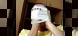 Prank an intent gamer with a masking tape face
