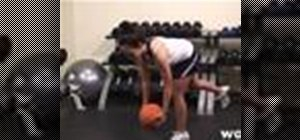 Do a single leg deadlift with a medicine ball
