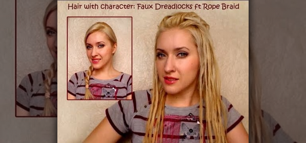 How To Create Faux Dreadlocks Using A Two Strand Rope Braid