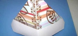 Make an origami paper hat with your kids
