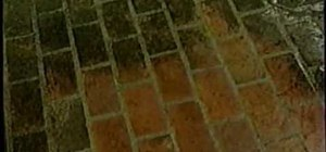 Clean a brick patio