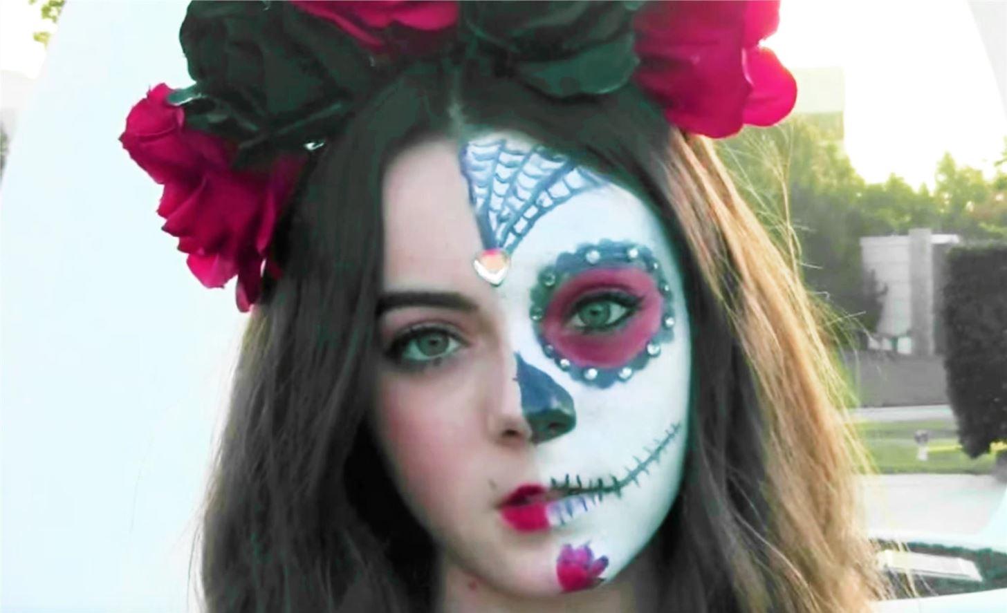 calavera makeup half wwwimgkidcom the image kid has it