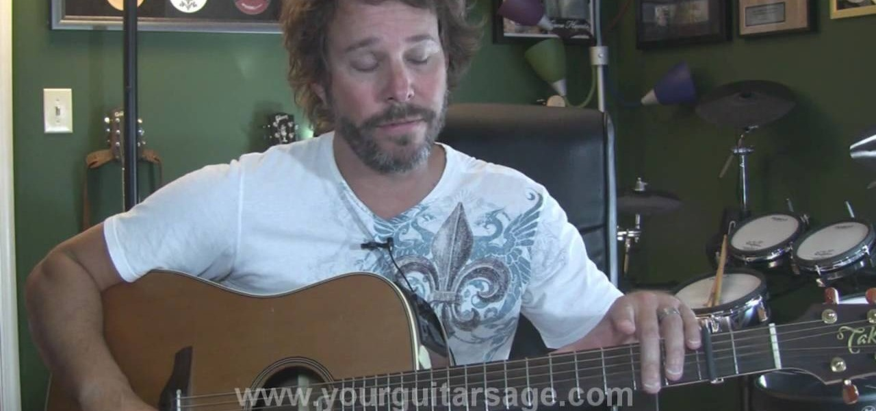 How To Play Thunder By Boys Like Girls On The Acoustic Guitar