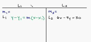 Find the parallel line to a given equation