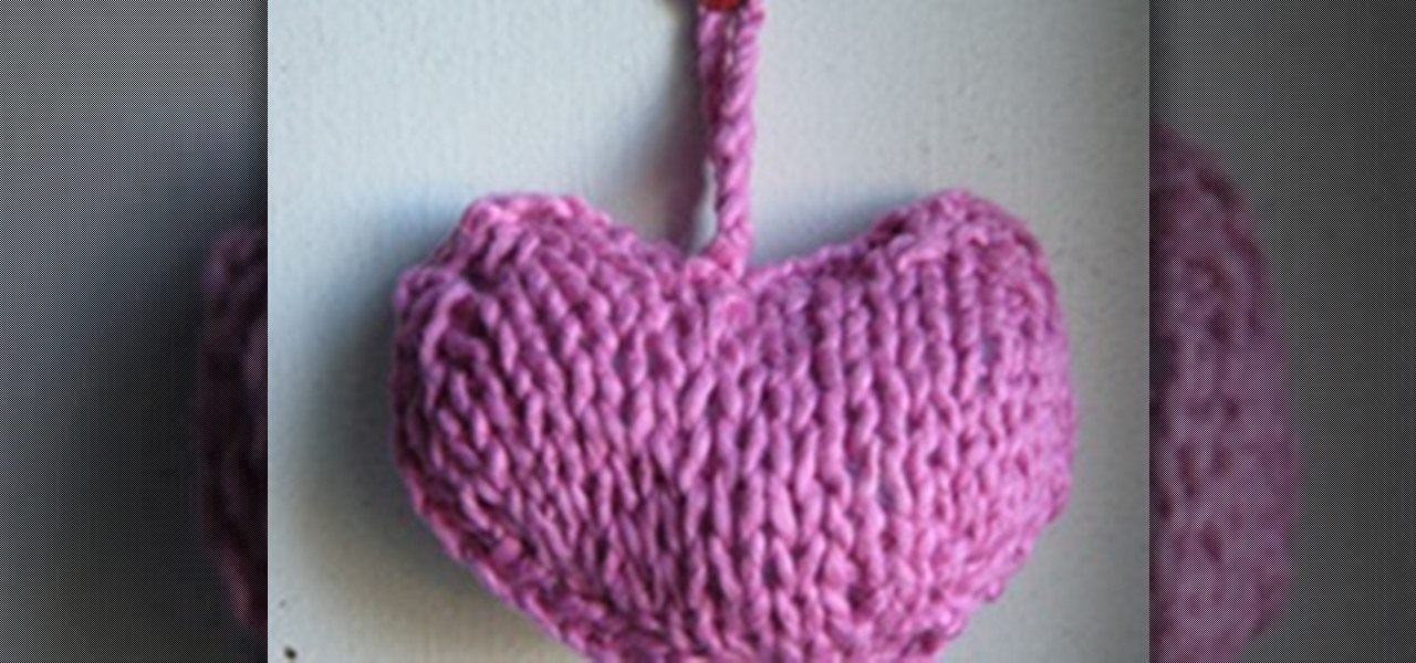Knitting Pattern Heart Cushion : How to Knit a Little Heart Cushion   Knitting & Crochet :: WonderHowTo