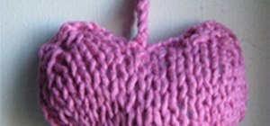 Knit a Little Heart Cushion
