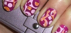 Paint short nails with a funky hot pink design