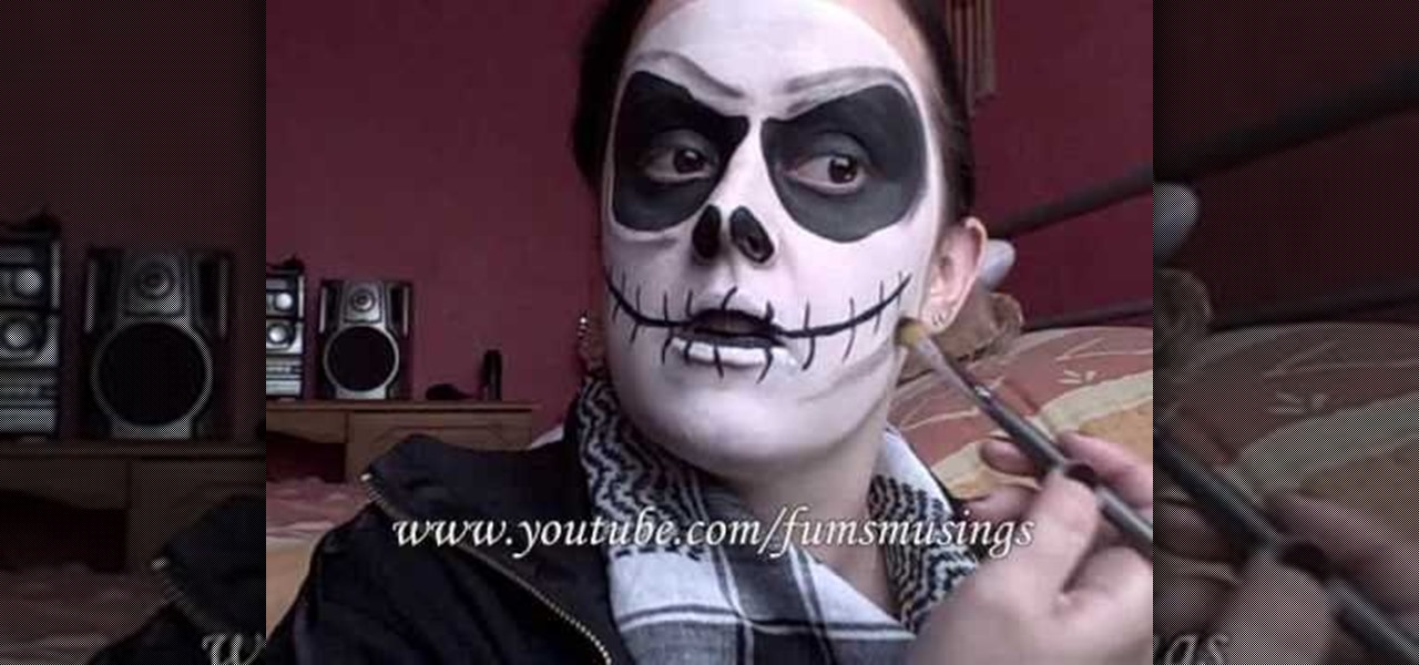 Christmas Halloween Makeup.How To Do Jack Skellington From The Nightmare Before