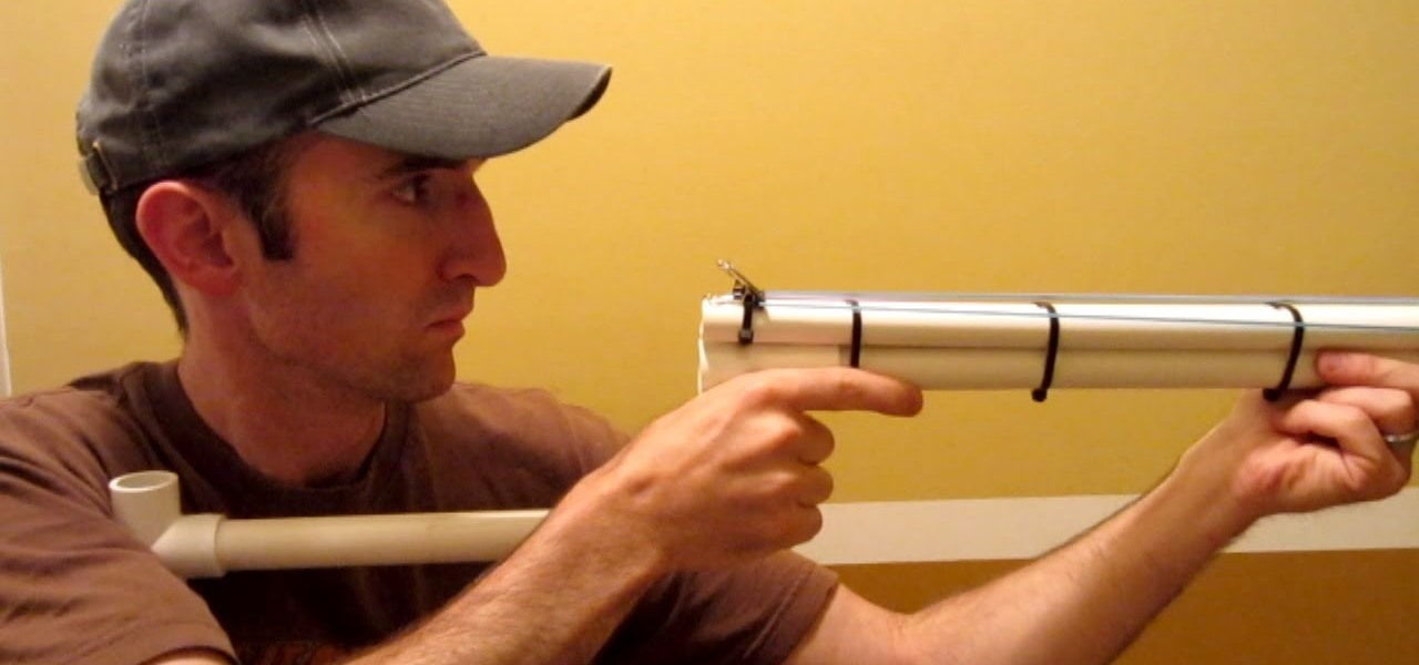 Make a PVC Shotgun - Rubber Band Gun - Nerf Blowgun