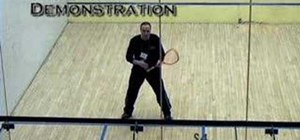 Generate power in squash strokes