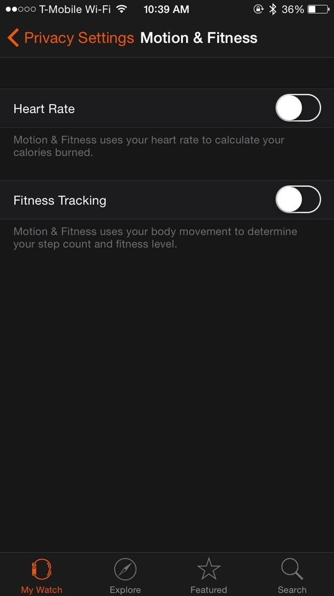 how to change apple watch workout settings