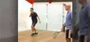 Do different squash forehand return of serve