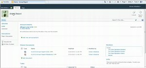 Create and use document workspaces in SharePoint 2010