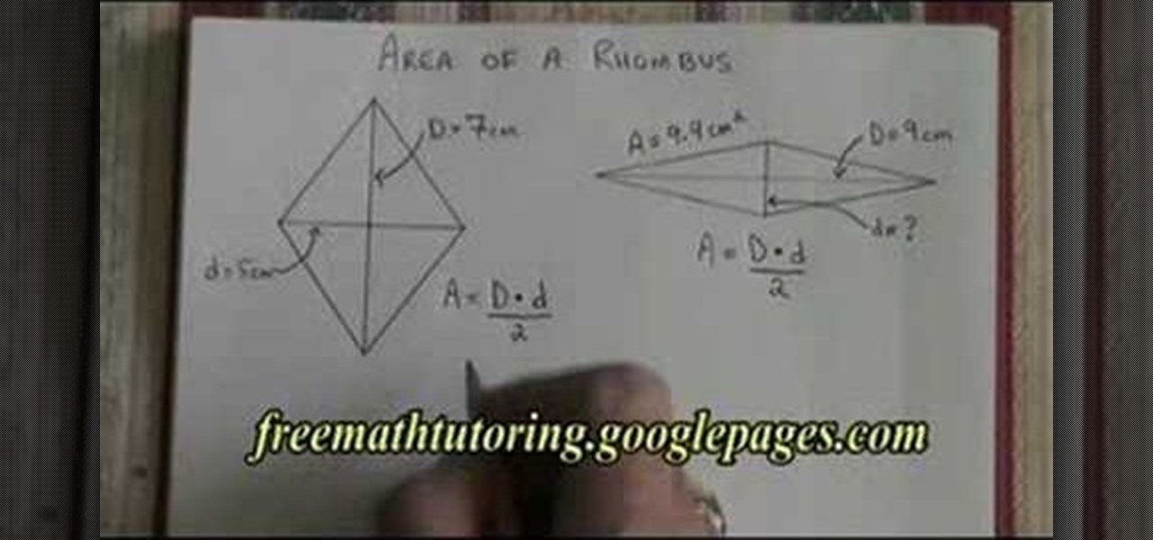 How to find the area of a rhombus math wonderhowto ccuart Images