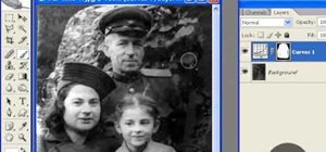 Restore an old photograph in Adobe Photoshop
