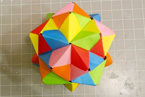 Modular Origami How To Make A Cube Octahedron Icosahedron From Sonobe Units