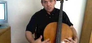 Hold the cello in good posture