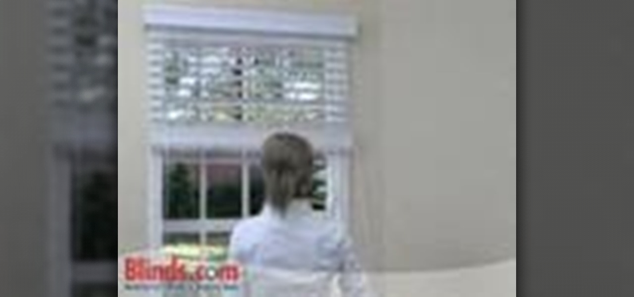 How To Install Outside Mount Faux Wood Blinds 171 Interior