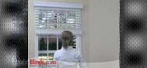 Install outside mount faux wood blinds