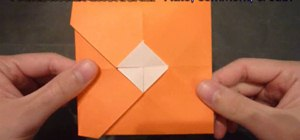 Make a square origami envelope that opens in the center