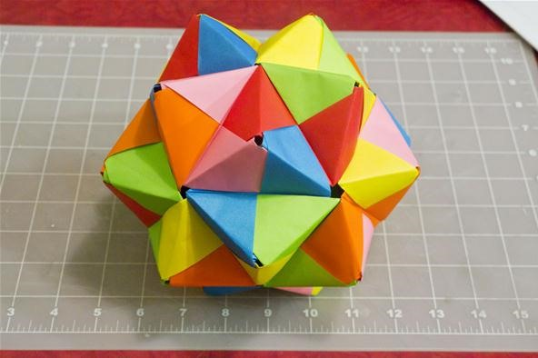 Modular Origami: How to Make a Cube, Octahedron & Icosahedron from ... | 394x592