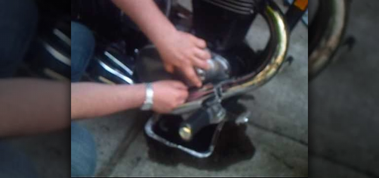 how to change oil on a '07 suzuki boulevard s40 motorcycle
