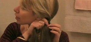 Do a fishtail braid hair style on your own hair
