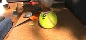 Make a tennis ball smoke bomb