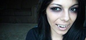 Create a sexy dark vampire look for Halloween