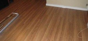 I installed a really tough (like iron) laminate flooring today