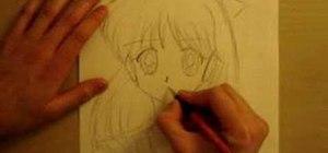 Draw an anime manga Sailor Venus and Jupiter