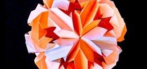 Origami a chrysanthemum