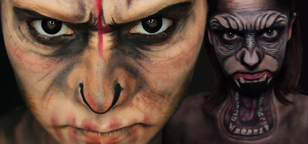 Dawn of the Planet of the Apes Halloween Makeup Guides: DIY Caesar Face Masks