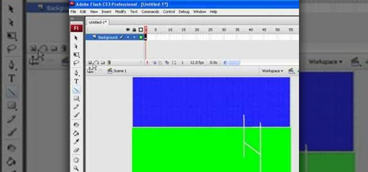 Write a program for tweened animation using flash cs3