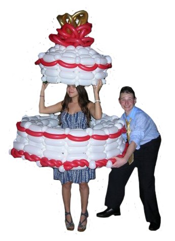 Giant Balloon Birthday Cake Delivery « CAKES! CAKES! CAKES!