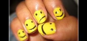 Paint smiley face nails