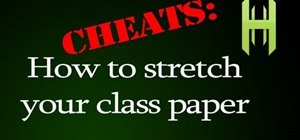 Extend the length of a class paper