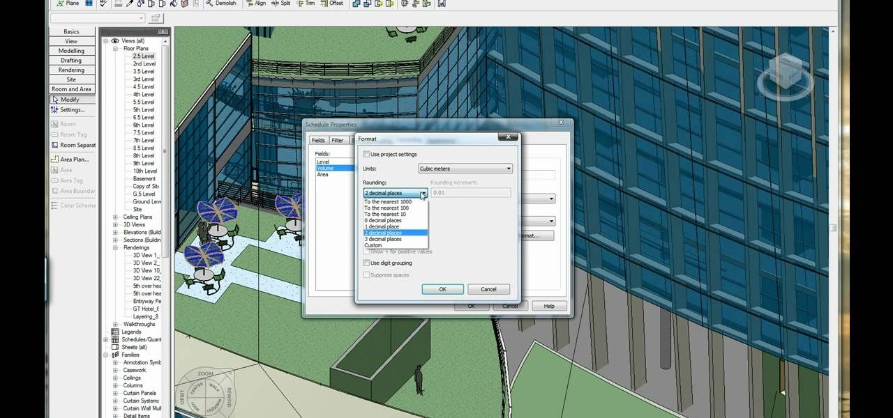 How to Calculate volume and area in Revit « Software Tips