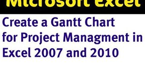 Make a gantt chart in Excel 2007