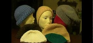 Crochet seven different kinds of hats using a double stitch