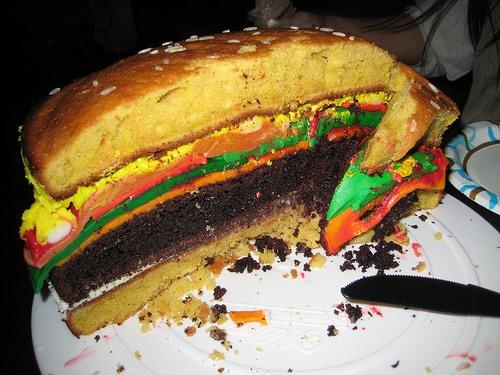 Best Cheeseburger Cake I've Seen