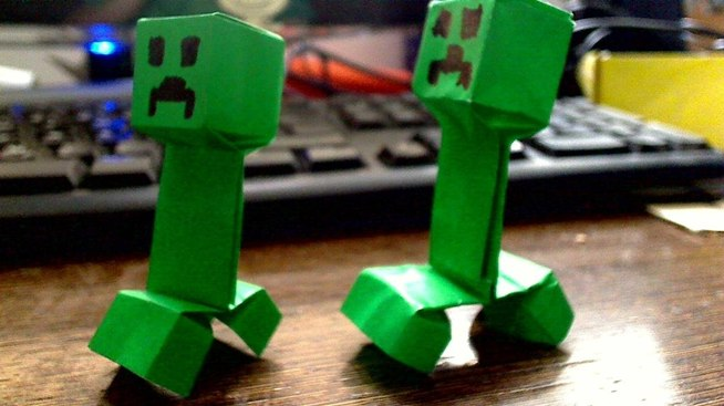 Minecraft Creeper Origami Youtube 7751622 Findsjobfo