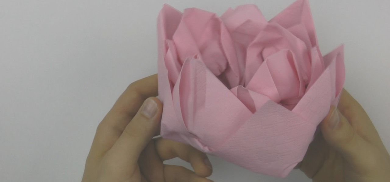 How to fold a lotus with napkins tavins origami wonderhowto fold a lotus with napkins mightylinksfo