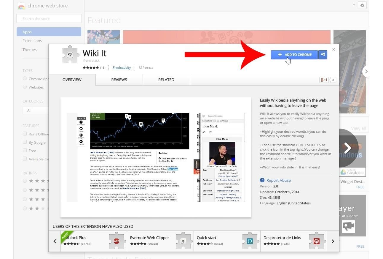 Get Instant Wikipedia Articles Without Leaving the Webpage You're Currently Viewing