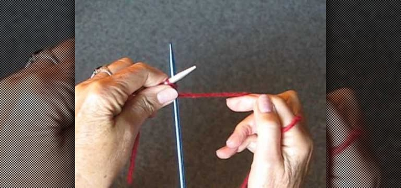 How To Cast Stitches On A Knitting Needle : How to Cast on a knitting needle for beginning knitters   Knitting & Crochet