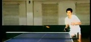 Play table tennis for beginners
