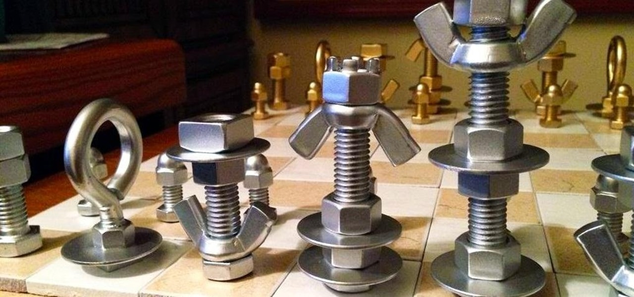 Make a MacGyver-Style Chess Set Using Just Nuts & Bolts