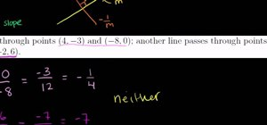 Find the equations of parallel and perpendicular lines