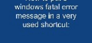 Put a fatal error on a windows computer with notepad