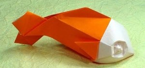 Make a goldfish out of origami
